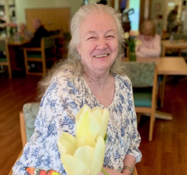 Caregiver And Resident Photo At Memory Care Facility - Marjorie House Memory Care Community